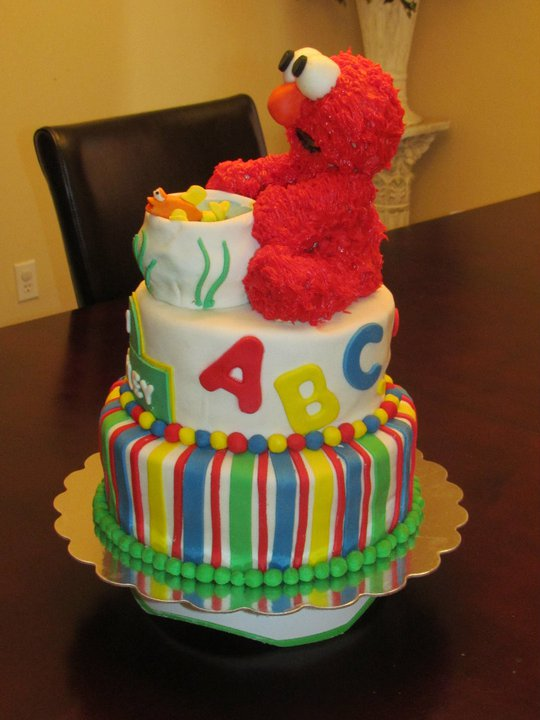 Elmo For A 1st Birthday We Bake Cakes